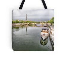 19 Houseboat on Seine @ Dusk 2 Tote Bag