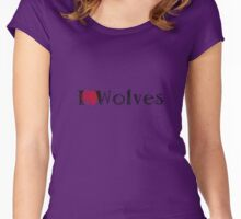 I Love Wolves Women's Fitted Scoop T-Shirt