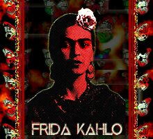 Frida Kahlo (Ver 2b) and Framed by Jorge S Jimenez