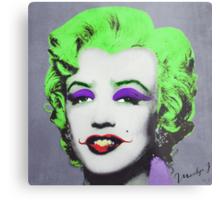 Joker Marilyn Metal Print