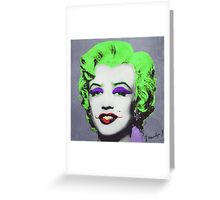 Joker Marilyn Greeting Card