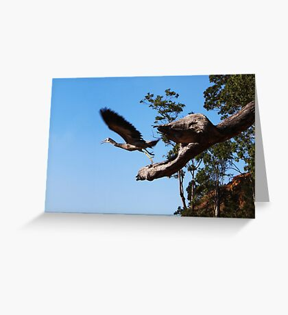 The bird eating Monster Tree Greeting Card
