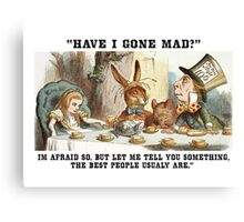 Alice and the Hatter Canvas Print