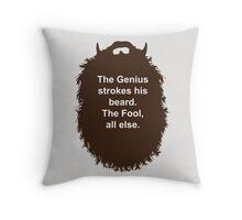 Beard-Collection - The Genius Throw Pillow