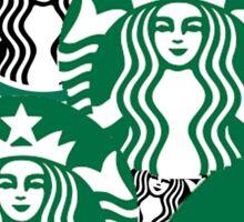 Starbucks logo collage  Sticker