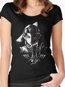 A Hero's Dark Reflection Women's Fitted Scoop T-Shirt