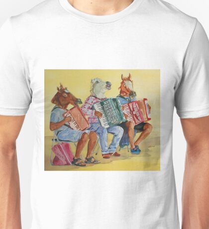 Horsing Around With Accordions Unisex T-Shirt