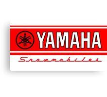 Yamaha Vintage Snowmobiles Canvas Print