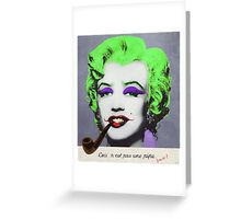 J. Marilyn with surreal pipe Greeting Card