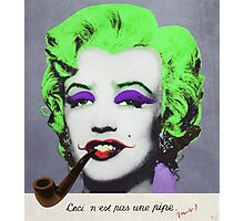 J. Marilyn with surreal pipe Photographic Print