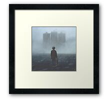 Boy And The Giants Framed Print