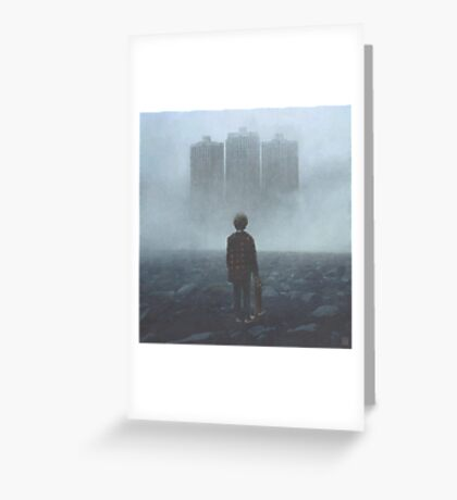 Boy And The Giants Greeting Card