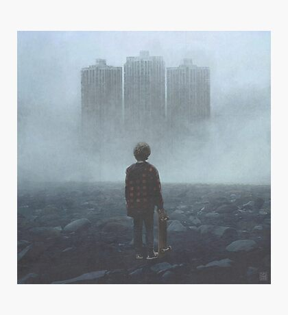 Boy And The Giants Photographic Print