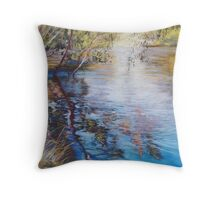 'Swirls & Ripples - Goulburn River' Throw Pillow