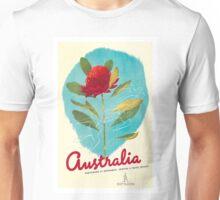 Australia Red Waratah Flower Vintage World Travel Poster by Gert Sellheim Unisex T-Shirt