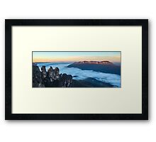 Three sisters and Mount Solitary Framed Print