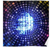 Disco ball background Poster
