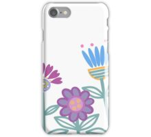 retro flower border iPhone Case/Skin