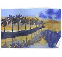 Florida Sunset Reflections Poster