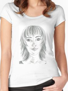 Portrait Stunning Women's Fitted Scoop T-Shirt