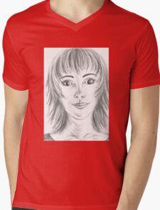 Portrait Stunning Mens V-Neck T-Shirt