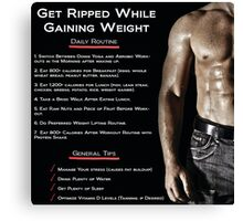 Getting Ripped - Infographic Canvas Print