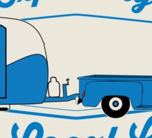 Exploring the Local Life Blue Truck and Camper Sticker
