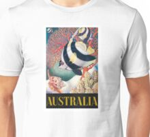 Australia Great Barrier Reef Vintage World Travel Poster by Eileen Mayo Unisex T-Shirt