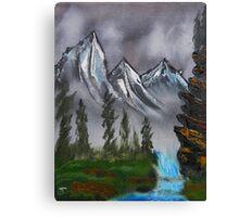Mountain Landscape at Dawn Canvas Print