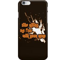 Punching My Fist iPhone Case/Skin