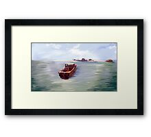 The Man on the Boat Framed Print