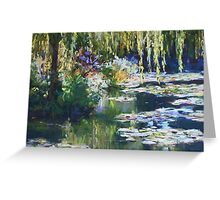 Willow & lilies, Giverny Greeting Card