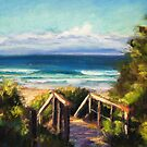 Early morning sunshine at Boomerang Beach by Terri Maddock