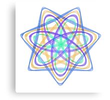 7 pointed spirograph 4 Canvas Print