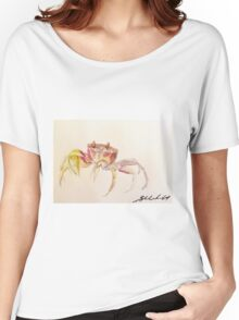 Sand Crab by Liz H Lovell Women's Relaxed Fit T-Shirt