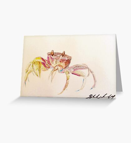 Sand Crab by Liz H Lovell Greeting Card