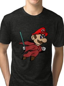 Flying Jedi Mario Tri-blend T-Shirt