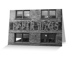Windows and Brick Greeting Card