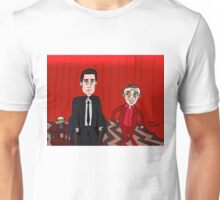 Dale Cooper in the Red Room with the Dancing Little Man Unisex T-Shirt