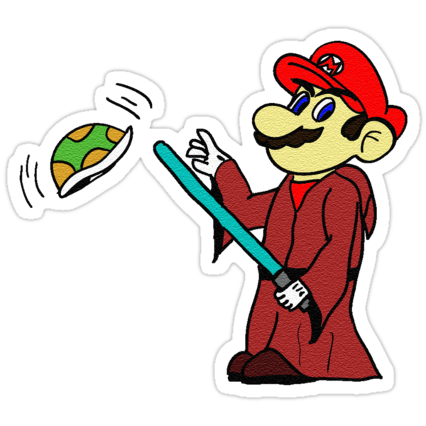 Jedi Mario by Charles Caldwell