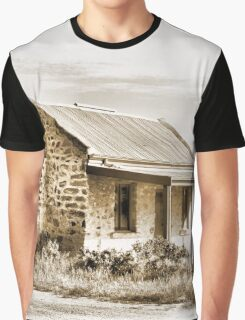 Old stone house at Silverton, Outback NSW Australia Graphic T-Shirt