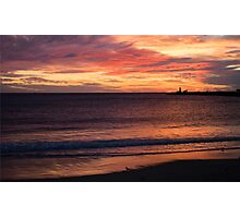 Sunset at Bathers' Beach, Fremantle, W.A. Photographic Print