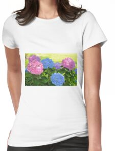Big And Bright Hydrangeas Womens Fitted T-Shirt