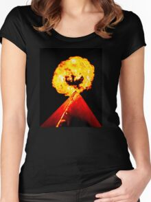 Phoenix Flame Tower Women's Fitted Scoop T-Shirt