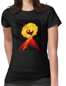 Phoenix Flame Tower Womens Fitted T-Shirt