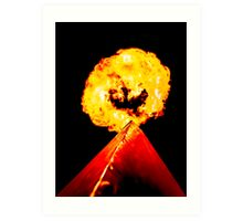 Phoenix Flame Tower Art Print