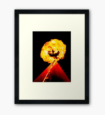 Phoenix Flame Tower Framed Print