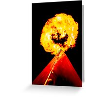 Phoenix Flame Tower Greeting Card