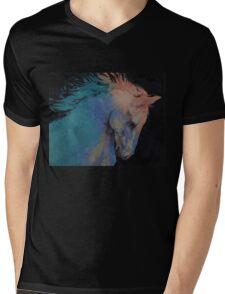 Stallion Mens V-Neck T-Shirt
