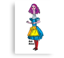 Ask Alice - Alice in wonderland Canvas Print